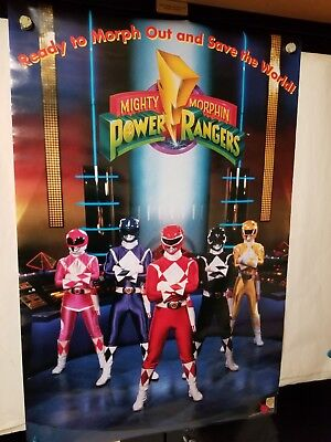 Vintage POWER RANGERS POSTER #642 - 1993! NEW, Still in Plastic cover! - RARE!!