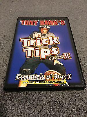 Tony Hawk's Trick Tips - Volume II: Essentials of Street (DVD, 2001) Rare Clean!