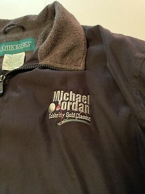 Jordan Mens Classic Fleece (Mens MICHAEL JORDAN Celebrity Golf Classic Fleece lined Windbreaker Outer Banks)