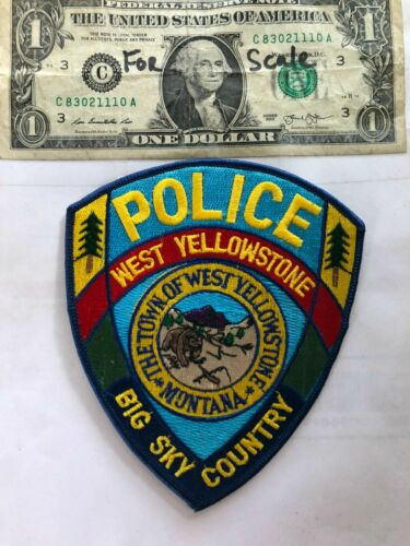 West Yellowstone Montana Police Patch (Big sky Country) in great shape