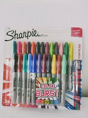 Sharpie Set Colors Point Permanent Markers Assorted Colors-24 Count