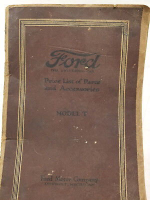Used, Antique Early Ford Model T Master Parts List Price Catalog Dealer Book for sale  Canaan