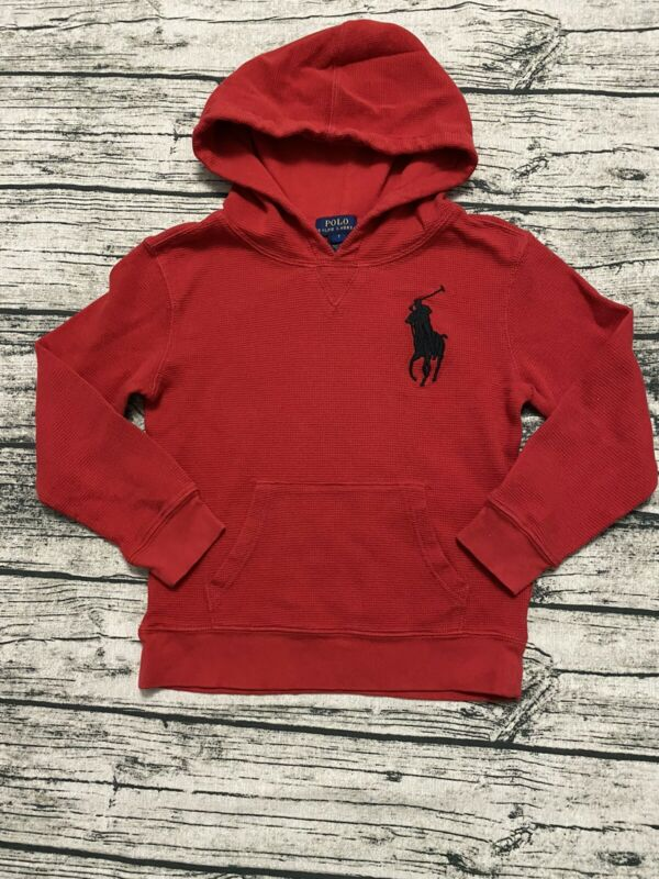 Boys Polo ralph Lauren Knit Hooded Thermal  Size 7