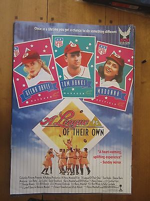 Original VHS Video Poster A League Of Their Own 2000 Madonna Hanks Davis, used for sale  Prestwick