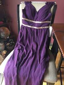 Beautiful Purple Floor Length Gown