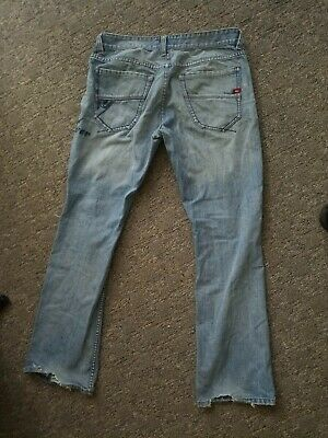 Mens quicksilver jeans ripped skater surf.