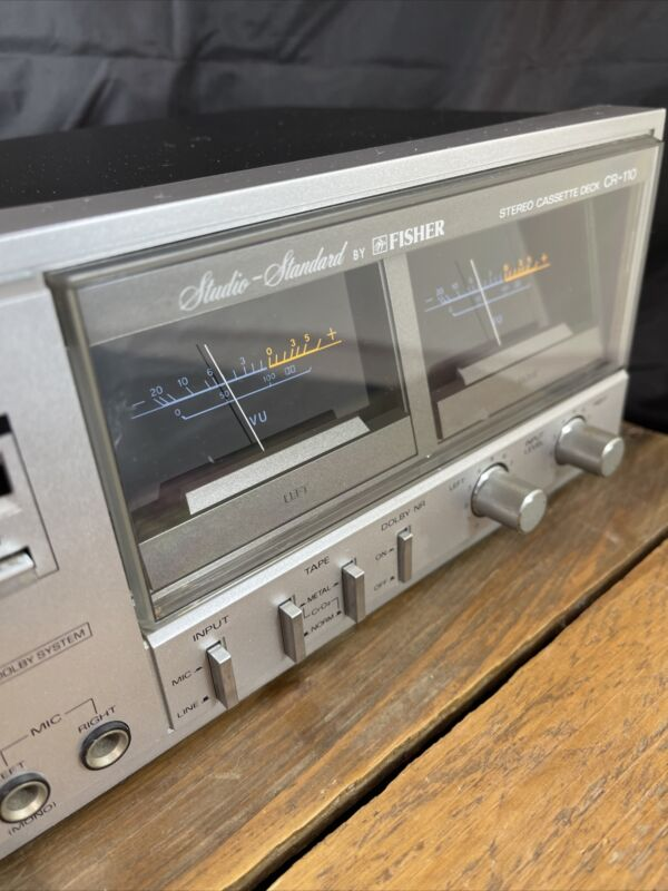 Fisher CR-110 Stereo Cassette Tape Deck player Studio Standard Silver Working!