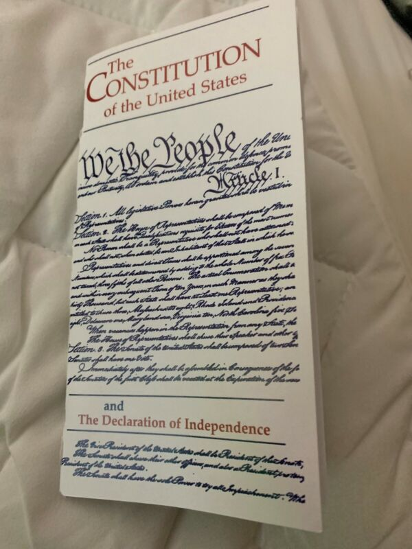 The Constitution Of The United States Pamphlet With Index And Declaration Of Ind