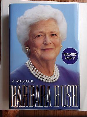 A Memoir Barbara Bush Barbara Bush  Hardcover  Autographed  Publishers Edition