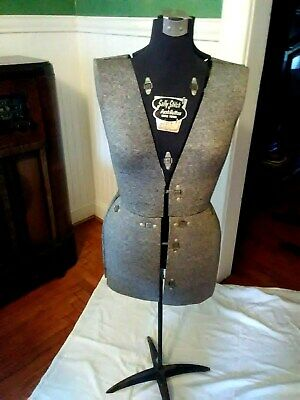 Very Nice Vintage Sally Stitch Push Button Size B Dress Form Stand Mannequin
