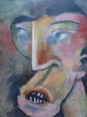 OIL ON CANVAS THE FACE ARTIST RUDOLPH EAVEY  FREE SHIPPING TO ENGLAND