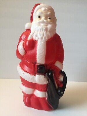 "Vintage 1968 Empire Blow Mold Christmas Santa Claus 13"" Tall - No Cord EXCELLENT"