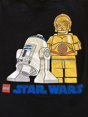 LEGO Star Wars R2-D2 C-3PO Youth Boys Graphic Novelty Top T-shirt Small Black  for sale  Greendale