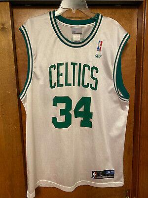Men's NBA Boston Celtics #34 Paul Pierce jersey by Reebok (White) - size Large