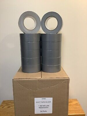 Duct Tape 2x 60 Yds Silver8.5 Mil Half Case 12 Rolls For Multi Purpose New