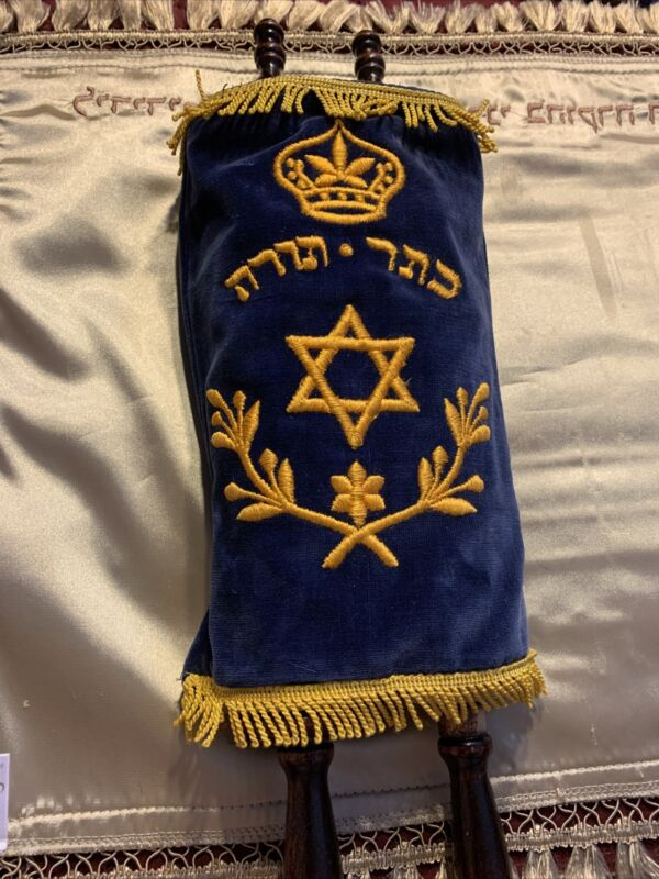 "Sefer Torah Jewish 17 "" long Miniature Scroll Kids Judaism Bible  Judaism ✡️"