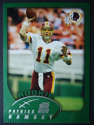 NFL 342 PATRICK RAMSEY WASHINGTON REDSKINS ROOKIE TOPPS 2002