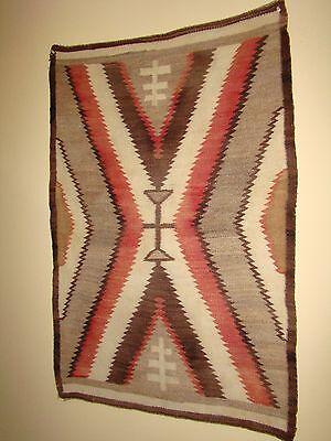 Antique Navajo Child or Saddle Blanket Native American weaving Rug