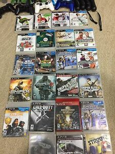 Ps3 and 5+ controllers and 23 games FOR PS4