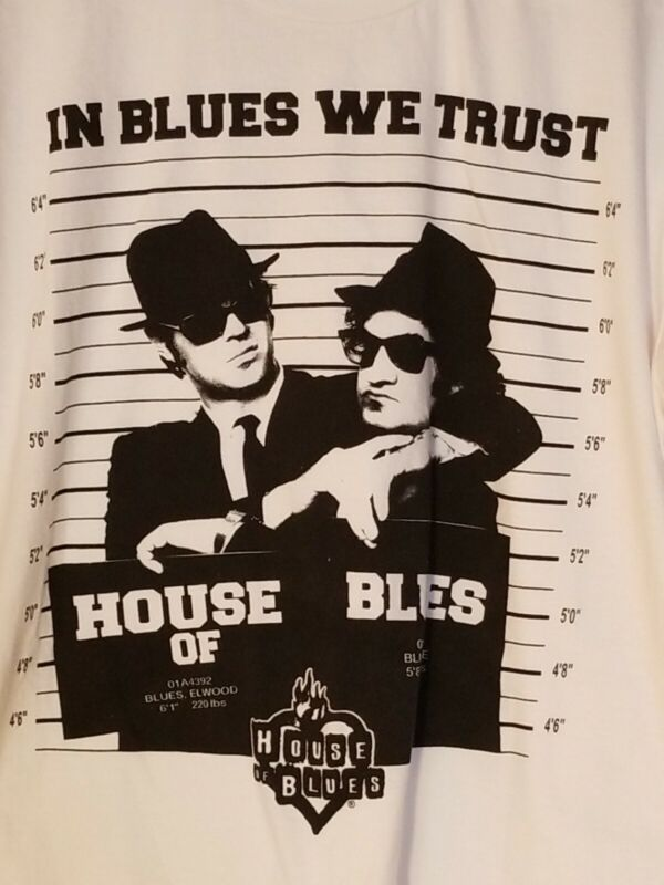 House of Blues In Blues We Trust Original Blues Brothers Bros T Shirt Size Large