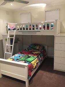 Children's white timbre loft bunk bed Carrum Downs Frankston Area Preview