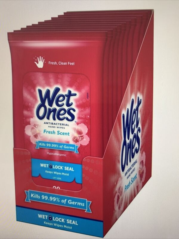 10Pk(20ea)200ct bundle cleaning Wet one wet wipees Fresh Scent kills 99.9 New