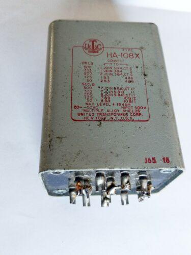 UTC HA-108X Transformer for Tube Amplifier Mixer Mic Amp etc - Military Grade