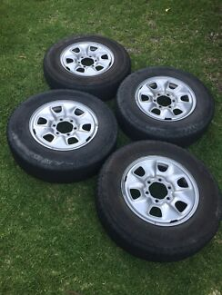 4 x Hilux Rims with Tyres
