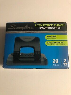 Swingline Low Force 2-hole Punch Smartouch 20 Jam Free 20 Sheet Capacity