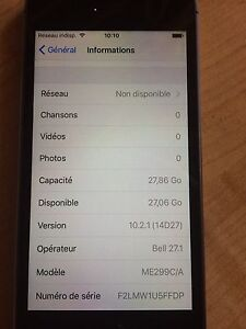 Iphone 5s 32gb Bell parfaite condition
