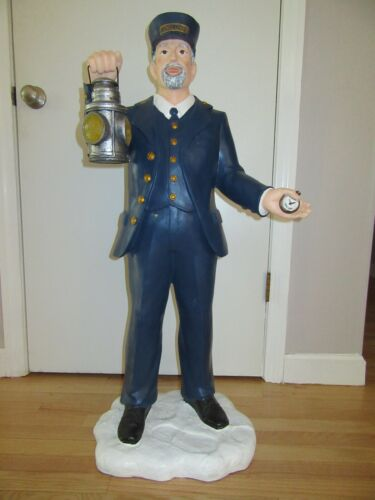 LIONEL TRAIN CONDUCTOR DOOR GREETER/LIGHTS UP AT NIGHT/3.5 FEET TALL/RARE!