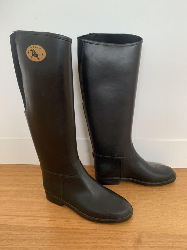 Dafna Winner Horse Riding Boots Equestrian PVC Rubber Tall Women UK 4 EU 37 AU 7