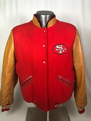 SAN FRANCISCO 49ERS VINTAGE 1980'S WOOL CLIFF ENGLE  SNAP-UP JACKET ADULT MEDIUM