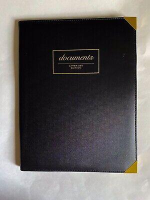 Cambridge Edition Black Leather Legal Pad Portfolio Included Legal Pad Excellent
