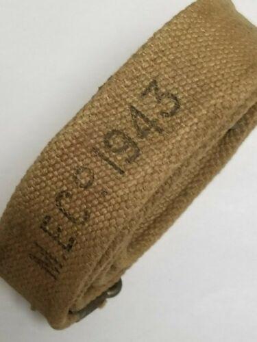 ENFIELD RIFLE CANVAS KHAKI SLING BRITISH WWII MARKED
