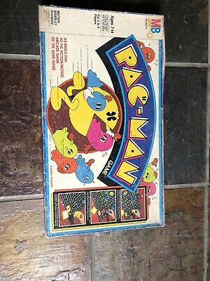 Complete Pac Man 1980's Board Game Milton Bradley Vintage Complete - Red Ghosts
