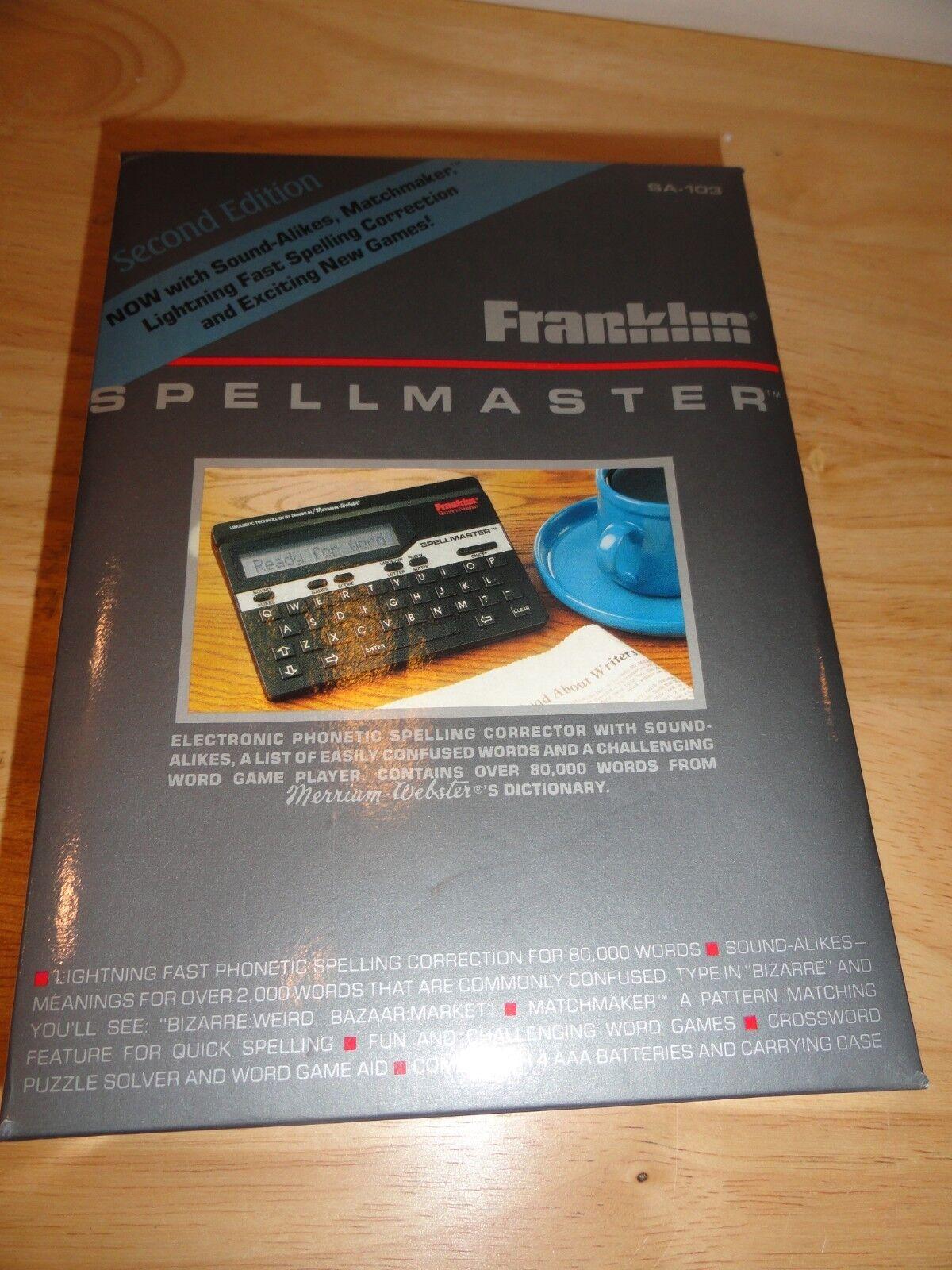 sa-103 Franklin spelling ace New