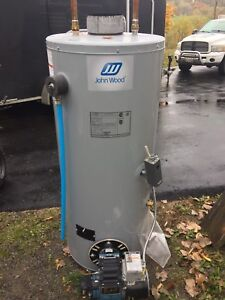Oil-fired Hot water heater with burner