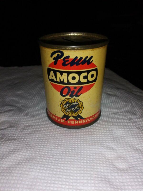 Penn Amoco American Oil Metal Bank, Permalube Processed Premium PA .1950