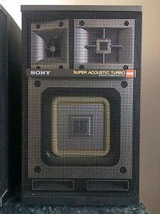 Sony Super Acoustic Turbo 3 ways speakers