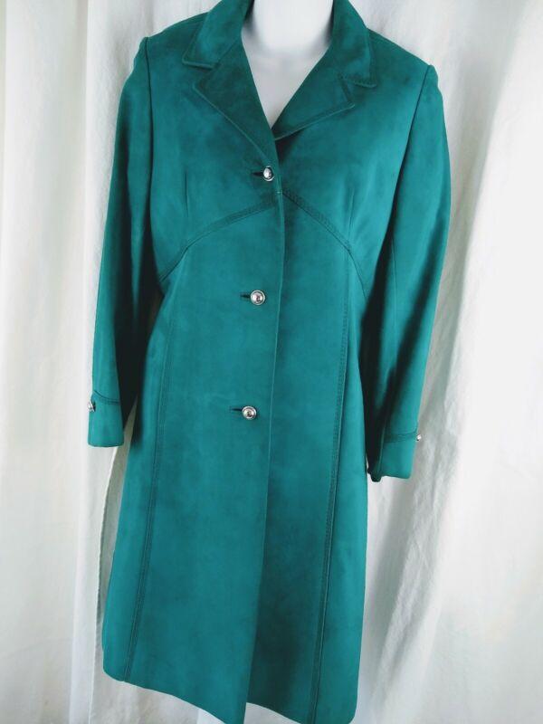 Vintage Made in Spain BRILLIANT PEACOCK TEAL Suede Jacket TILOPEL Women