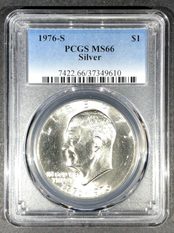 1976-S Silver Eisenhower Dollar PCGS MS-66, Buy 3 Items, Get $5 Off!!