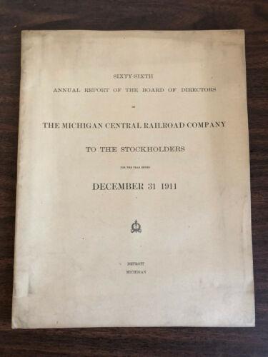 1911 66th Annual Report to Stockholders Michigan Central Railroad Company Map