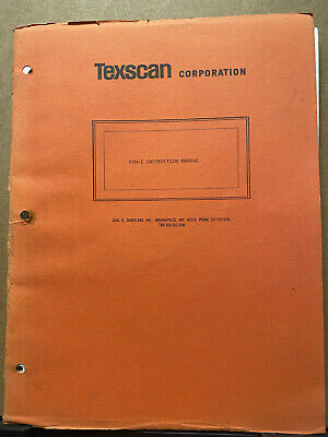 Vtg Texscan Instructionowner Manual For The Vsm-1 Visual Field Strength Meter
