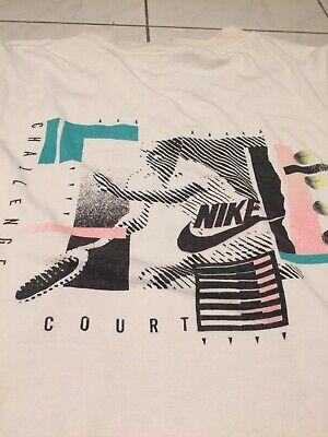 f3ef54e7661 Nike Challenge Court Shirt Pullunder Agassi Tennis Retro Vintage Size S M