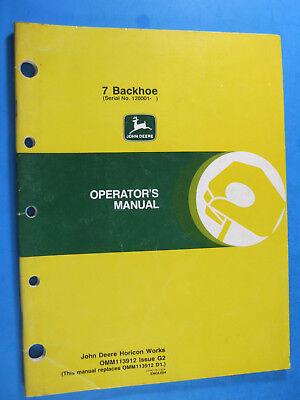 John Deere 7 Backhoe Operators Manual