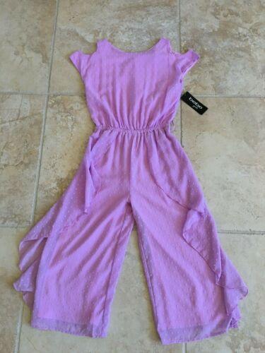 BEBE GIRLS purple jumpsuit size L 10-12