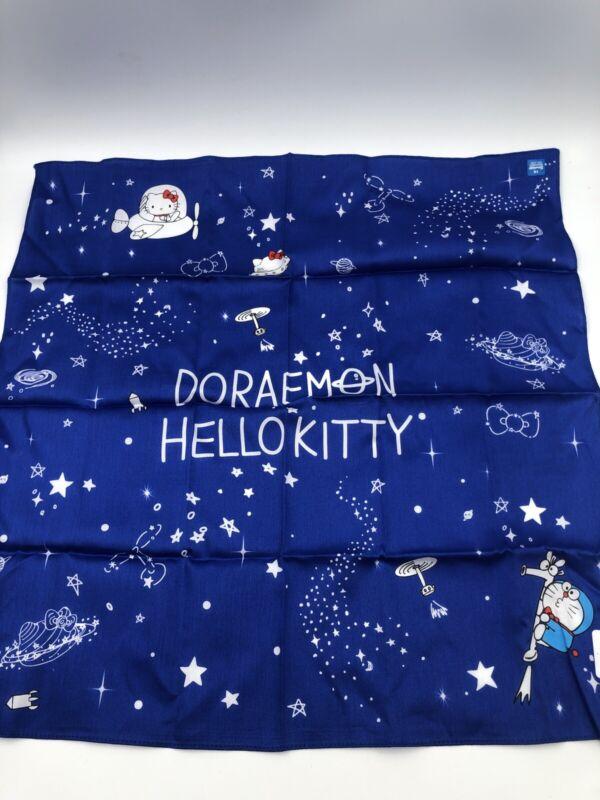 Sanrio Japan: Doraemon x Hello Kitty Handkerchief (C5)