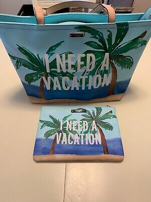 Kate Spade Breath of Fresh Air I  Need A Vacation Francis Tote & Gia -