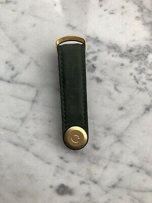 Orbitkey 2.0 Leather Key Organizer Moss Green With Golden Buckle